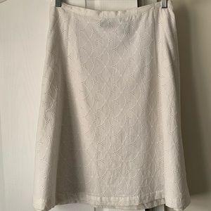 New York & Company white eyelet skirt